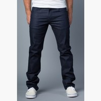{Vantage Point} Driven Slim-Straight Jeans in Delta Blue