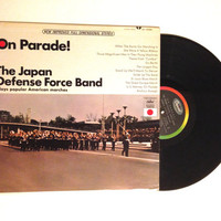 FALL SALE The Japan Defense Force Band On Parade LP Album When The Saints Go Marching In Vinyl Record