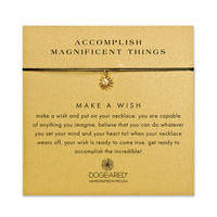 accomplish magnificent things starburst black silk necklace, gold dipped - Dogeared