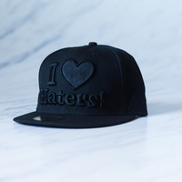 DGK I Love Haters Fitted Cap - Black/Black