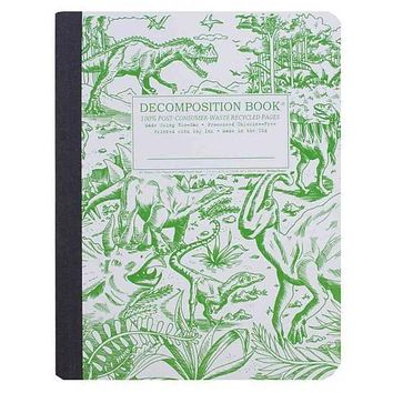 Dinosaurs Decomposition Book: College-ruled Composition Notebook With 100% Post-consumer-waste Recycled Pages