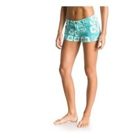 """Roxy """"Forever Print"""" Blue/Green Womens Shorts"""
