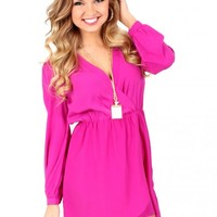 Lifelong Passion Pink Wrap Dress | Monday Dress Boutique