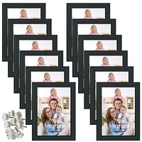 4x6 Picture Frame Black Photo Frames for Wall or Tabletop, Set of 12
