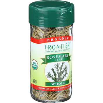 Frontier Herb Rosemary Leaf - Organic - Whole - .85 Oz