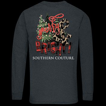 Southern Couture Classic Merry & Bright Holiday Long Sleeve T-Shirt