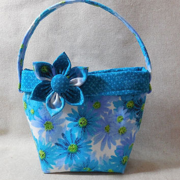 Adorable Little Girls' Purse With Detachable Fabric Flower Pin
