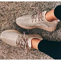 Samplefine2 Adidas Yeezy boost Men and women fashion casual Joker simple sports shoes