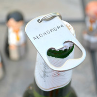 ALOHOMORA bottle opener keychain.  *** If price below is shown in AU dollar, but you are in not in Australia, see instructions below