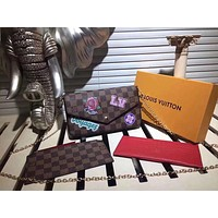 LV Louis Vuitton MONOGRAM CANVAS Felicie INCLINED SHOULDER BAG