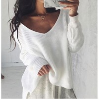 Knit Tops Sweater Winter Loose 3 Colors Tops [11779091919]