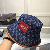 Dior Gucci GG letter men's and women's wild sunscreen fisherman hat