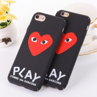 Trendy Unique Play Heart Print Iphone 6 6s 6Plus 6sPlus 7 7 Plus 8 8 Plus X Phone Cover Case