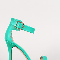 Breckelle Ankle Buckle Open Toe Heel