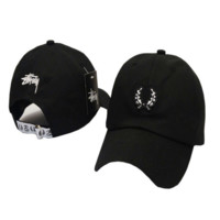 Stussy Embroidered Black Unisex Adjustable Cotton Baseball Golf Sports Cap Hat