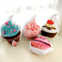Cup Cake Pillow Baby Toys Stuffed Throw Pillow Cushion for Kids Baby Bedroom Decration