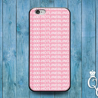 iPhone 4 4s 5 5s 5c 6 6s plus + iPod Touch 4th 5th 6th Generation Cute Music Musician Quote 1 800 Hot Line Bling Phone Cover Funny Pink Case