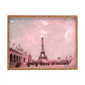 Bianca Green Stardust Covering Vintage Paris Rectangular Tray