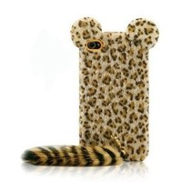 iClover Leopard Print Iphone 4/4s Cases with Panther Tail: Cell Phones & Accessories