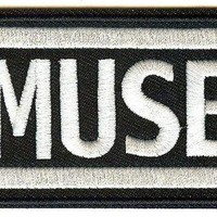 Muse Iron-On Patch Rectangle Letters Logo