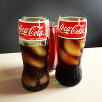 Recycled CocaCola Coke Glass Bottle Drinking Glass by Rehabulous