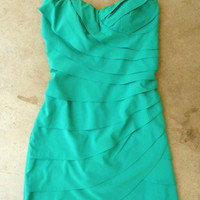Emerald Waves Party Dress : Vintage Inspired Clothing & Affordable Dresses, deloom | Modern. Vintage. Crafted.