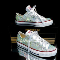 10% off Special Wedding, Bride, Bridesmaid, Prom, sweet 16, Graduation Crystal  Converse handmade (Including Shoes...)