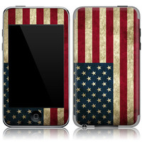 Apple iPod Touch 2nd 3rd Gen Skin Cover - Old U.S. Flag