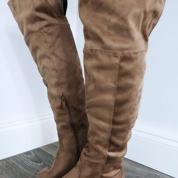 High Rider Boots: Taupe