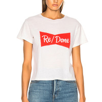 RE/DONE Ribbon Graphic Classic Tee in Vintage White | FWRD