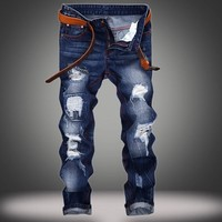 Blue Envy - Men's Custom Damaged Jeans - Signature Design by Shawn Broadnax