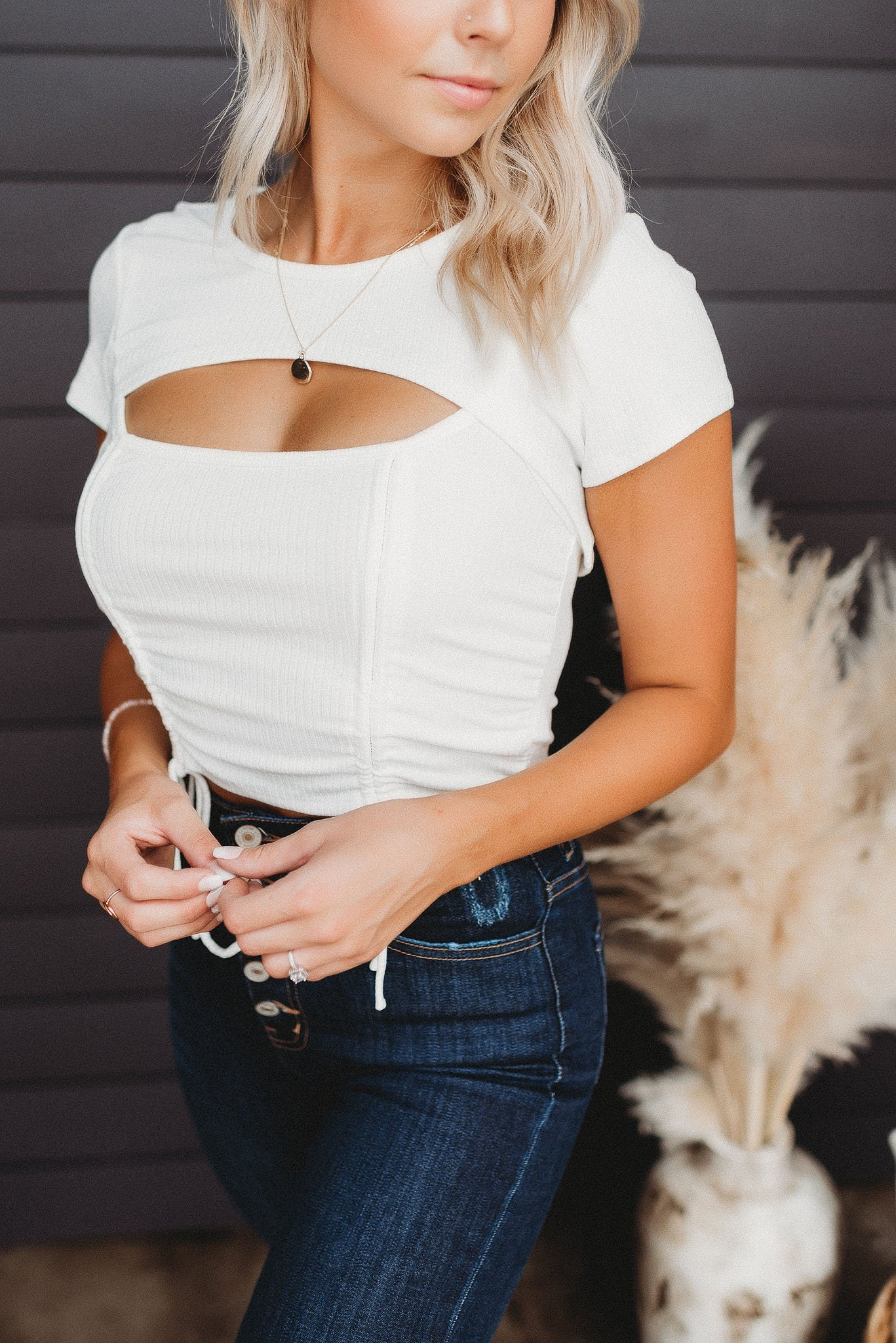 Image of Right On Trend Top (White)
