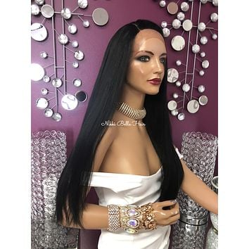 """Black Top knot Lace front Wig 26"""" 918"""
