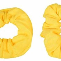 Set of 2 Solid Scrunchies - Yellow