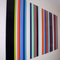 Big Striped Modern Wall Art by messicakes on Etsy
