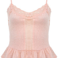 Blush Peplum Jacquard Cami - Tops - Sale & Offers