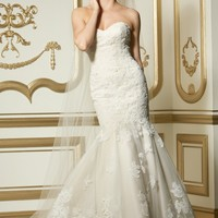 Wtoo by Watters Flora 11538 Fit and Flare Lace Wedding Dress