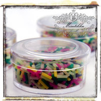 1 Box of Mix Color Deco Sweets Polymer Clay Sprinkles -Decoden Miniautre Craft Supplies / Scrapbooking Material (SS.SRM.BS)