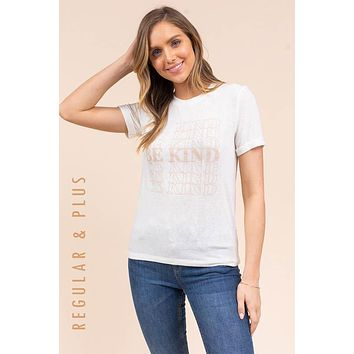 """Graphic """"Be Kind"""" T-shirt - Ivory"""