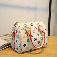 PU leather floral printing children school bags kids travel messenger cross-body small phone pouches money bags for baby girls