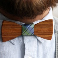 Harvey Wooden Bow Tie - $50