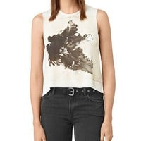 ALLSAINTSTulipa Abstract Graphic High Low Tank