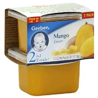 Gerber 2nd Foods NatureSelect Baby Food, Mango Fruit