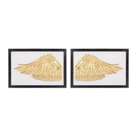 Ikaros Wall Decor Gold,White