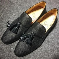ESBNW6 Cl Christian Louboutin Loafer Style #2380 Sneakers Fashion Shoes