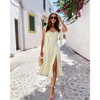 fhotwinter19 new women's hot sale sexy fashion floral open back lace slit long skirt