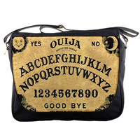 "Vintage Ouija Witch Board Photo 14"" Messenger Laptop Notebook Tablet Computer School Sling Shoulder Bag Handbag Tote Custom Made"
