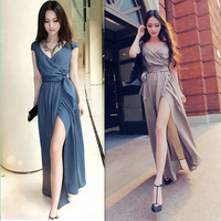 long chiffon dress summer dress maxi dress maxi skirts open fork v neck blue dress black dress long dress beach dress sexy dress plus size dress wedding party dress women's fashion = 1956689924