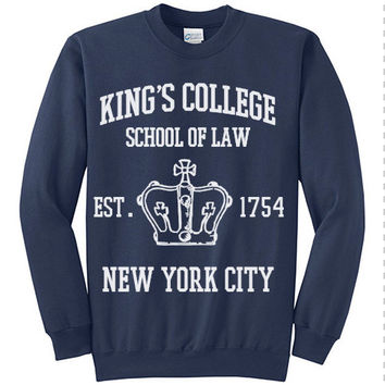 HAMILTON BROADWAY MUSICAL King's College School of Law Est. 1754 Greatest City in the World Unisex Men & Women Crewneck Sweatshirt