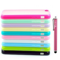 Teviwin(TM) (A106) 10pcs New Matt Frosted Clear Hard Back Case Cover Soft TPU Bumper Frame Case for Apple iPhone 5C, Teviwin Stylus Included